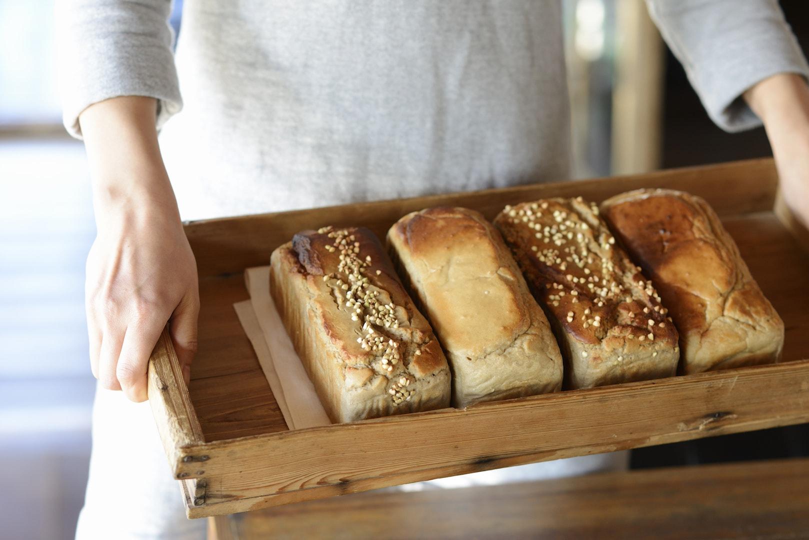 ココナッツオイルヴァージョンのそば粉パンが最高に美味