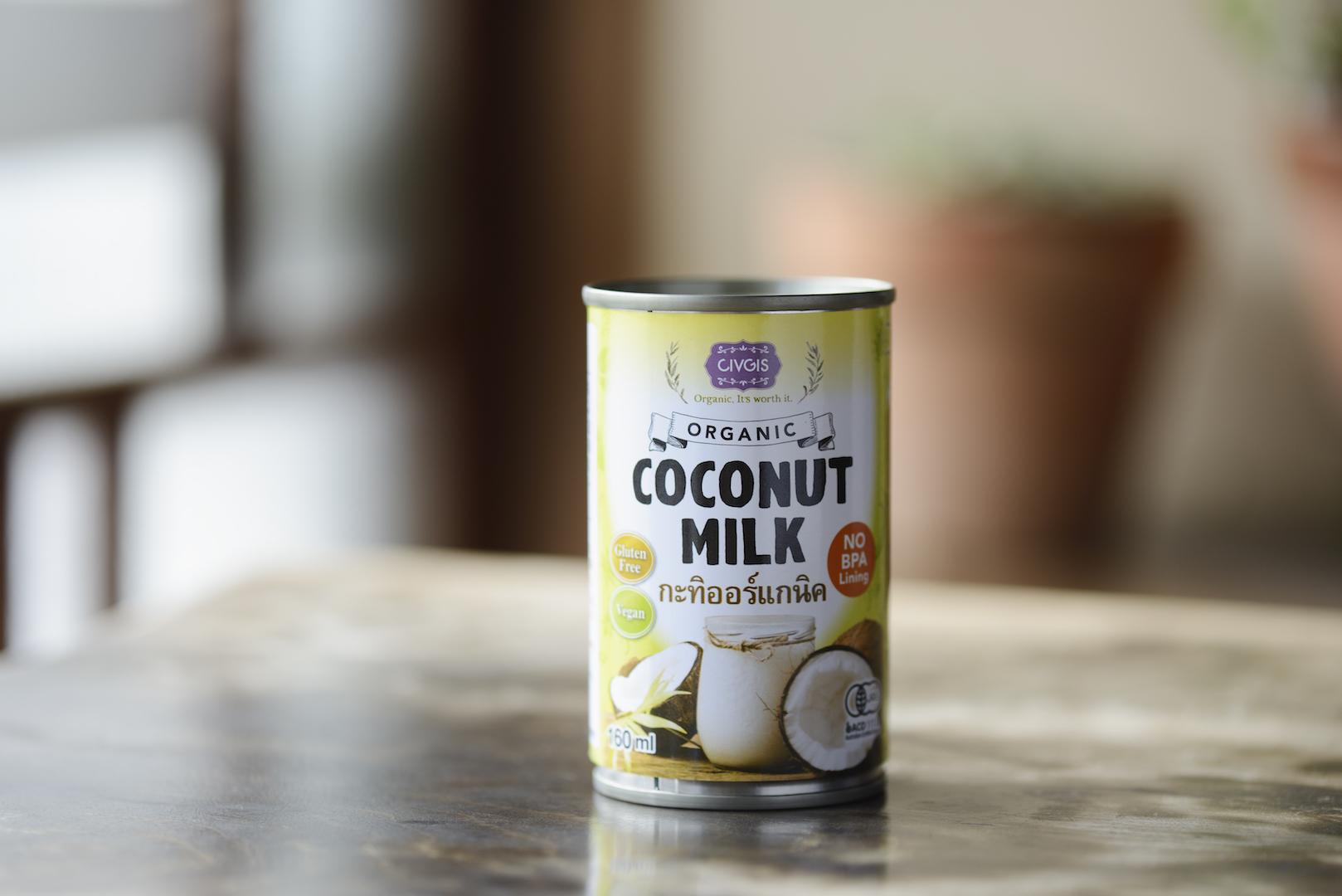 使い切りサイズのココナッツミルク