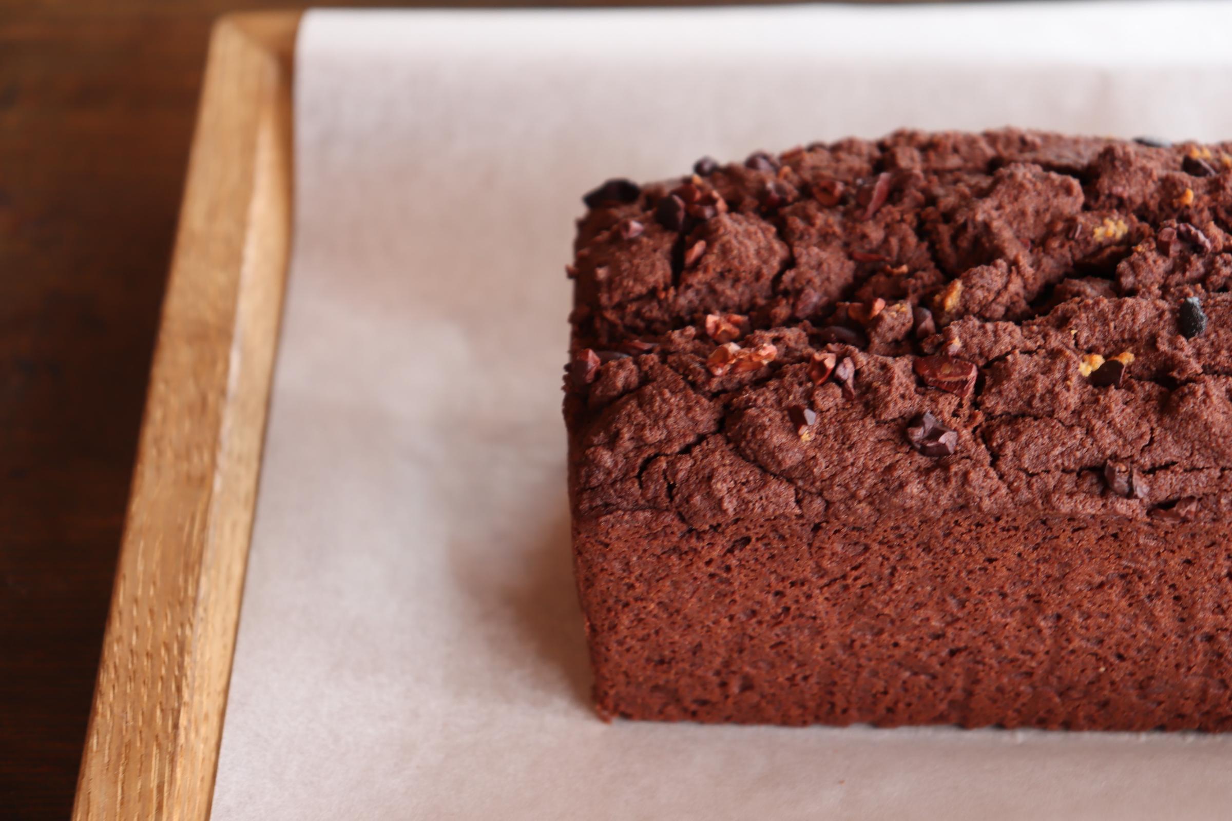 グルテンフリー&シュガーフリー ビターリッチチョコレートケーキ