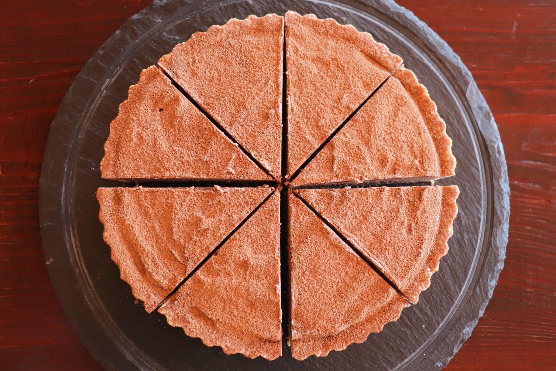 濃厚なローカカオのロータルトケーキ